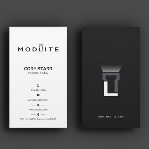 Business card contest winner