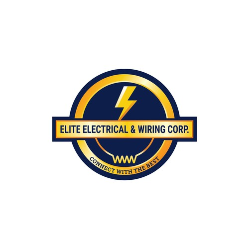 Badge logo concept for Elite Electrical & Wiring Corp.