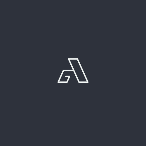 Simple and modern GA monogram
