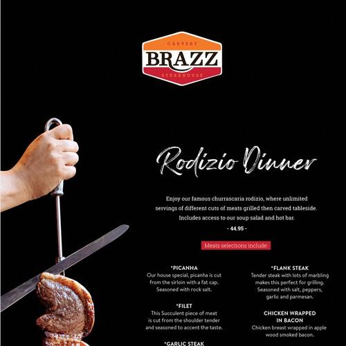 Steakhouse menu design