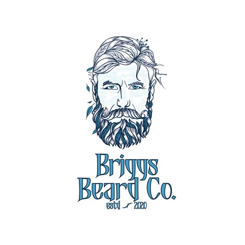 Logo for all natural men's beard products