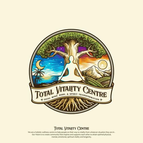 Vibrant Logo proposal for Total Vitality Centre