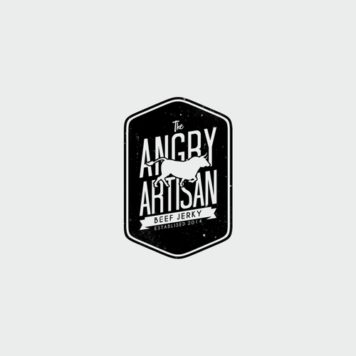 Create a cool modern logo for The Angry Artisan. Chef ChristenAngermeier has a biting attitude :)