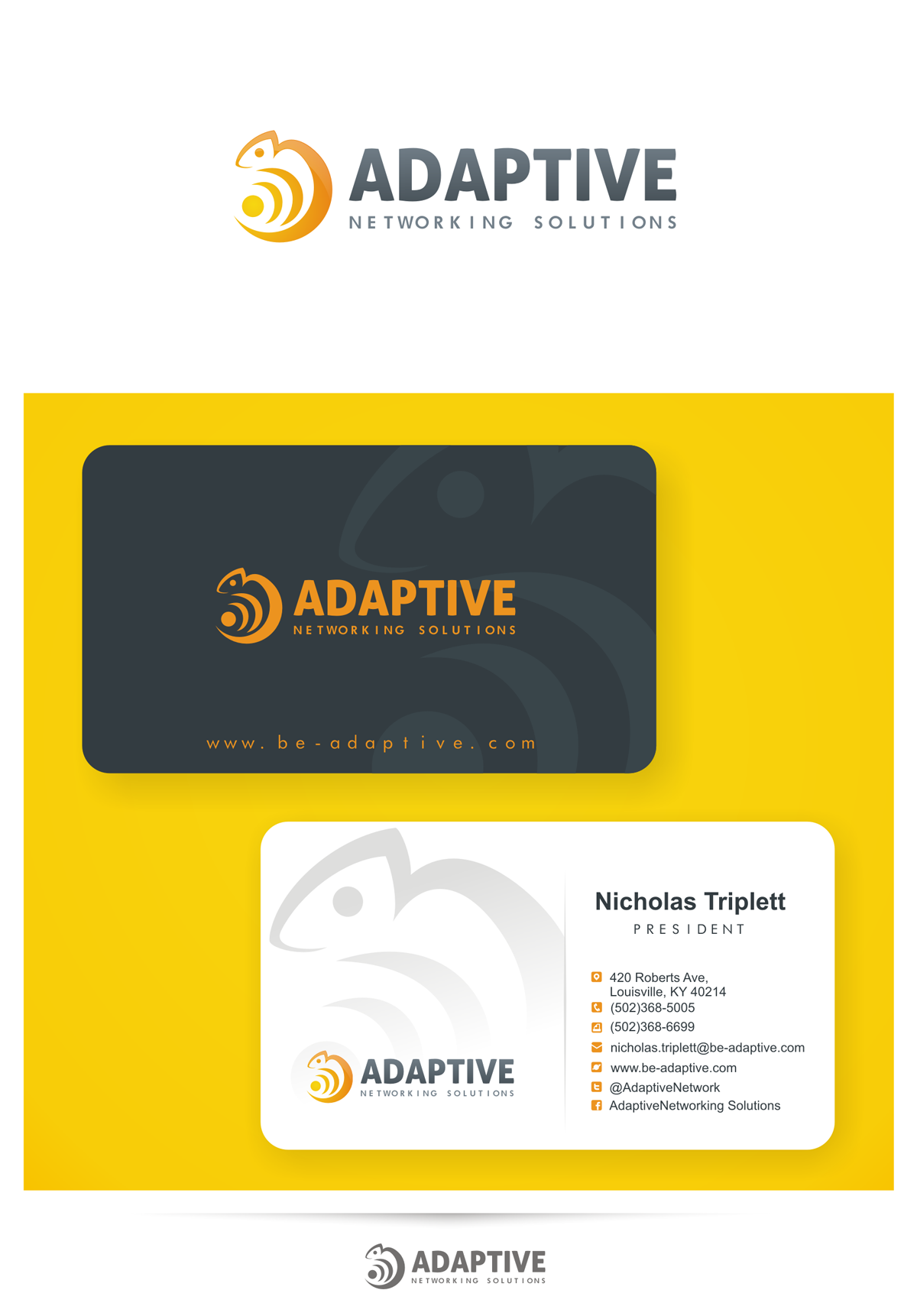 Adaptive Networking Solutions needs a new logo/business card (Guaranteed Prize)