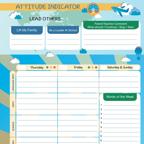 Planner for little leaders