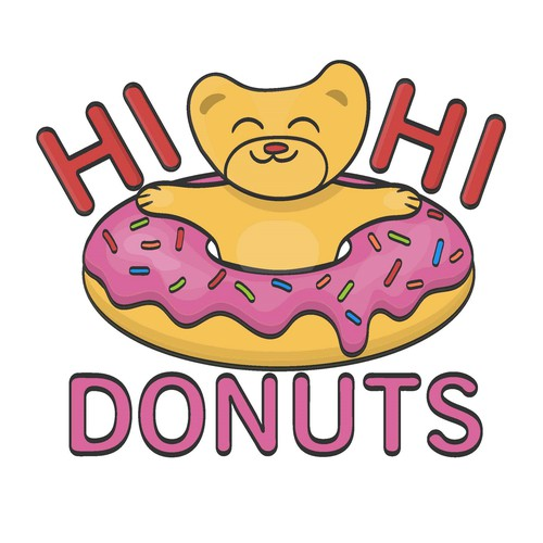 Logo for donuts shop
