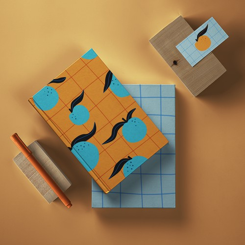 """Blue Oranges"" - Stationery product"