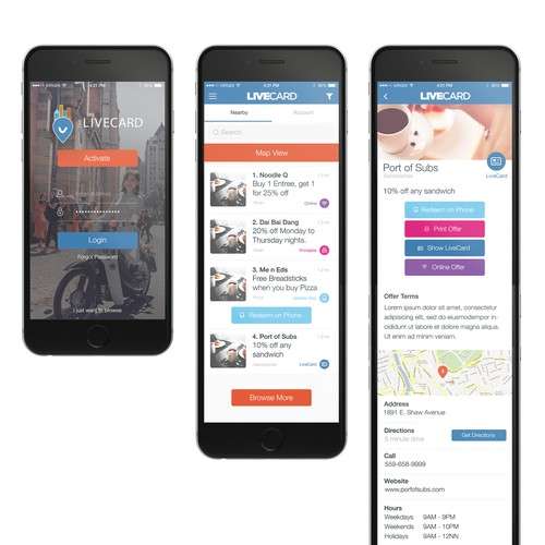 App design for a Yelp/Groupon like service.