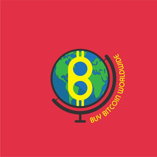 Flat Design logo for Buy Bitcoin Worlwide