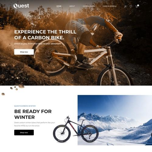 Bike Homepage Design