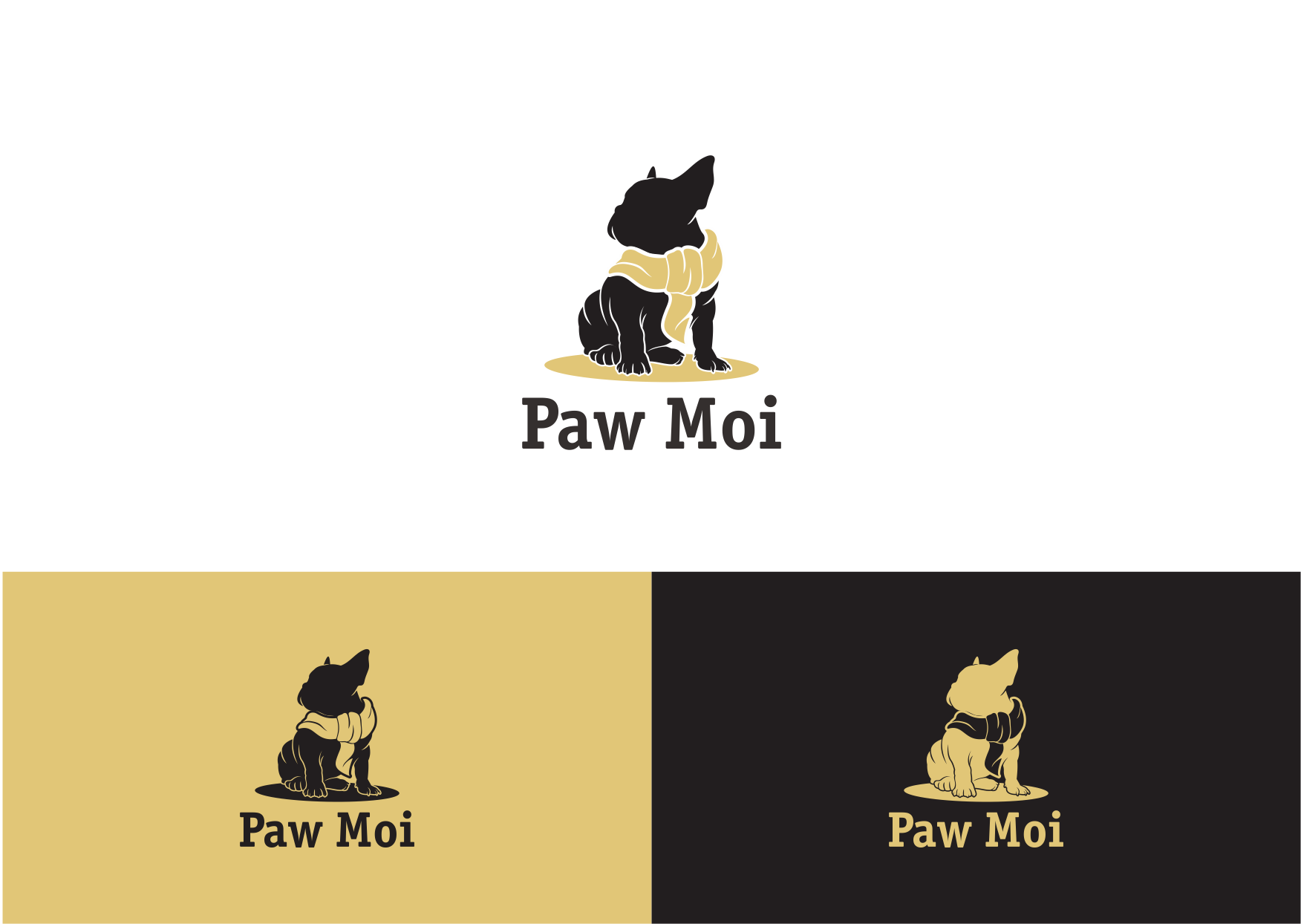 Create a logo for a luxury French Bulldog brand