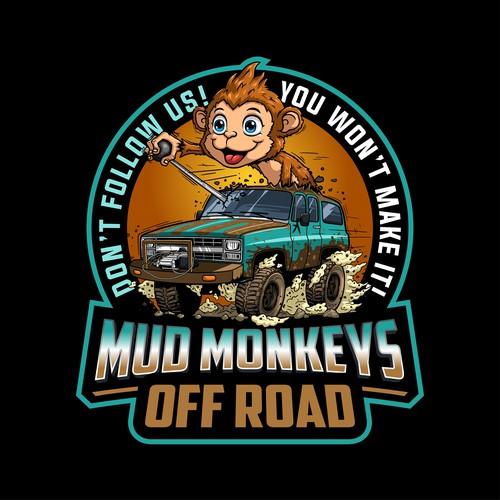 Fun logo design for Mud Monkeys Off Road
