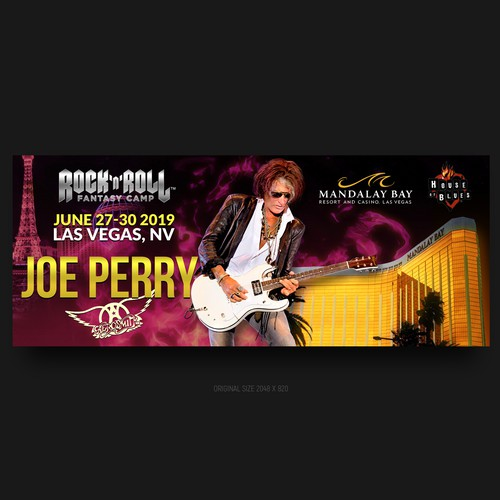 Rock and Roll Fantasy Camps ad banner