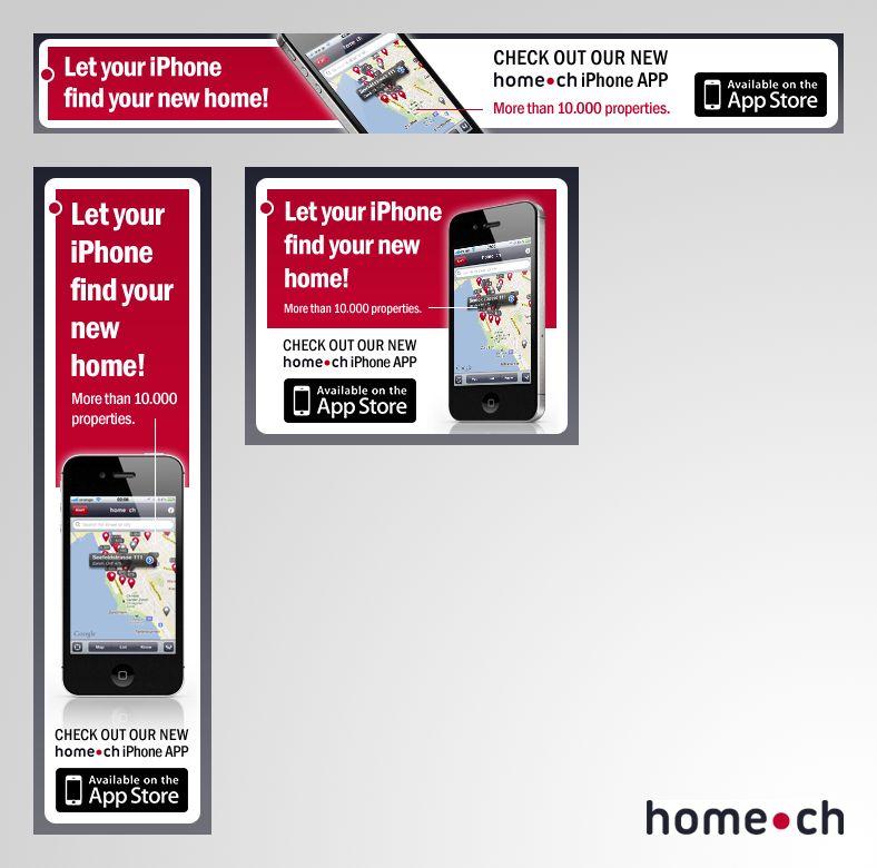www.home.ch (Swiss real estate website) needs a new banner ad