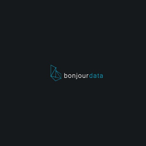 "Logo concept for ""Bonjour data"""
