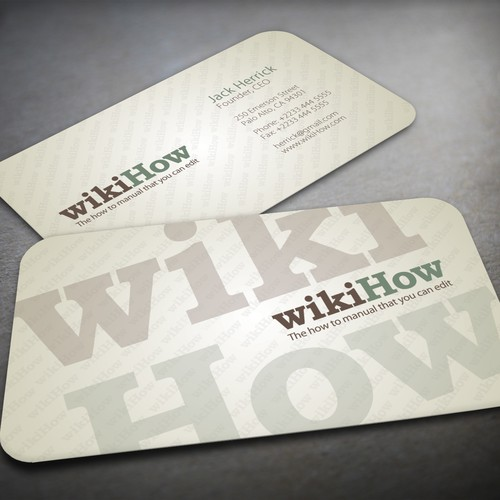 Design a business card for wikiHow.com