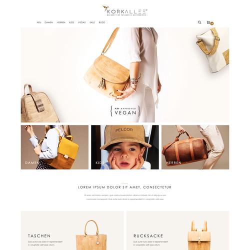 E-commerce website for bags