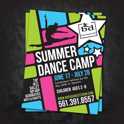 Spunky kids' camp flyer design