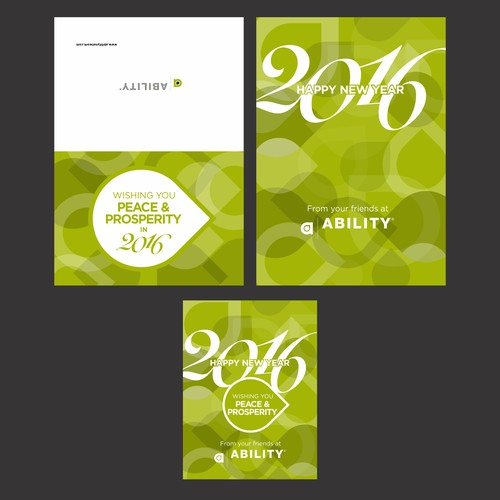 New Year Greeting Card for Ability