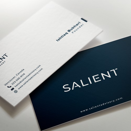 Business card for health care investors