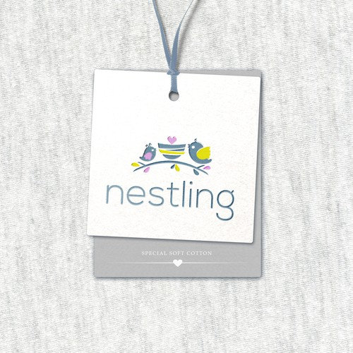 Hangtags for high and cotton baby clothing