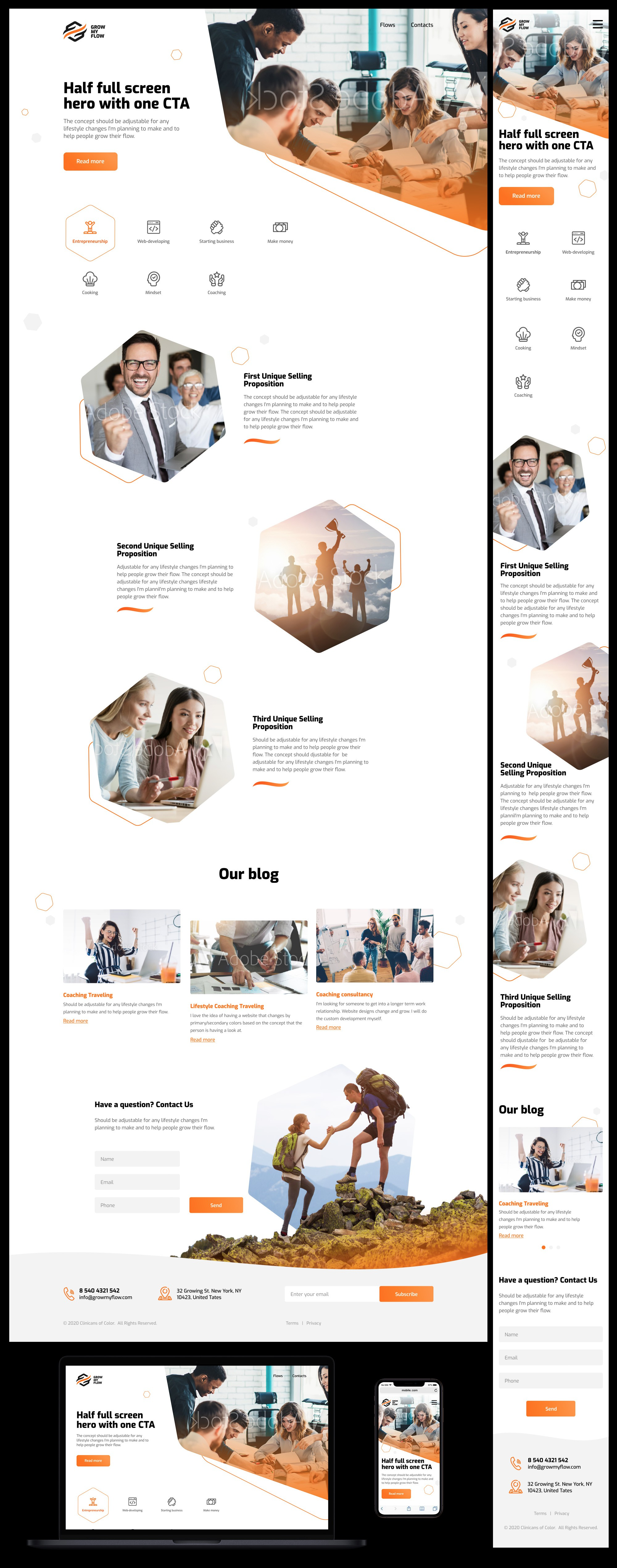 Personal brand website - Modern minimalistic [branding guide in process and available]