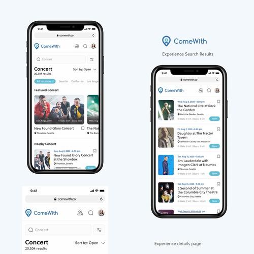 ComeWith Mobile UI Design Contest