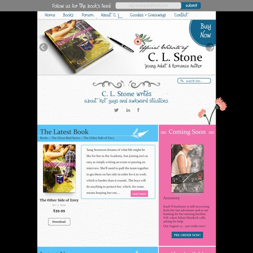 Writers Novel Website C.L. Stone