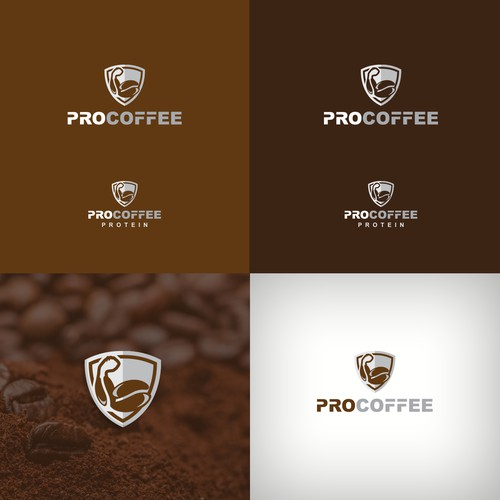 Logo concept for a coffee protein brand