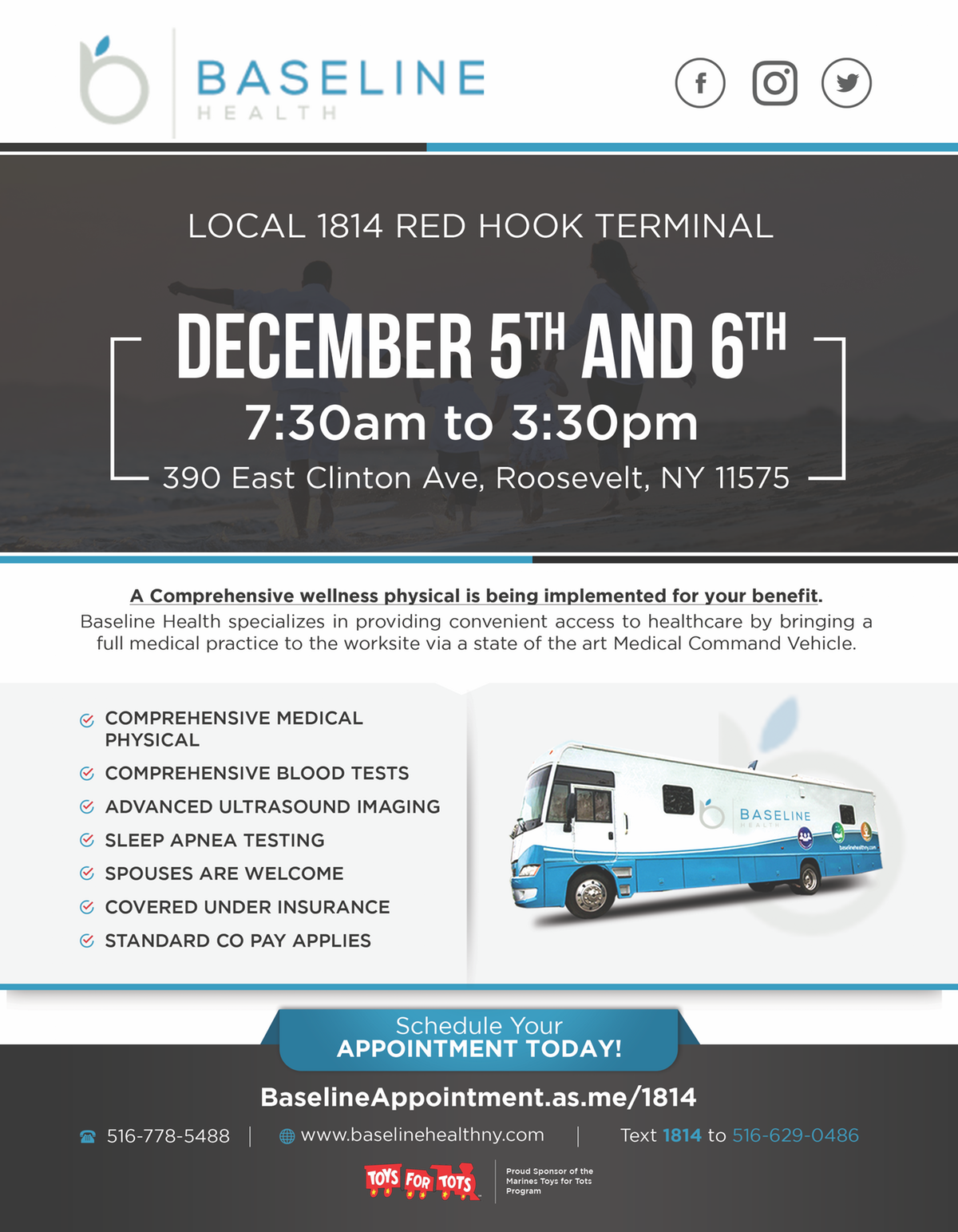 Local 1814 Testing Date Flyer