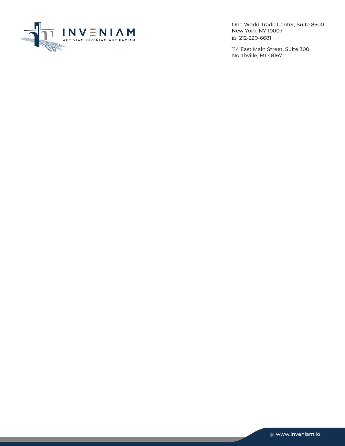 Inveniam - letterhead and business card
