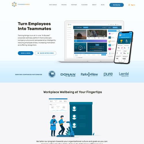 Amigo App Homepage