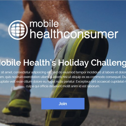 "Create Mobile App Template for ""Holiday Challenge"""