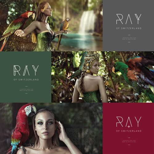 RAY logo concept / luxury cosmetics brand