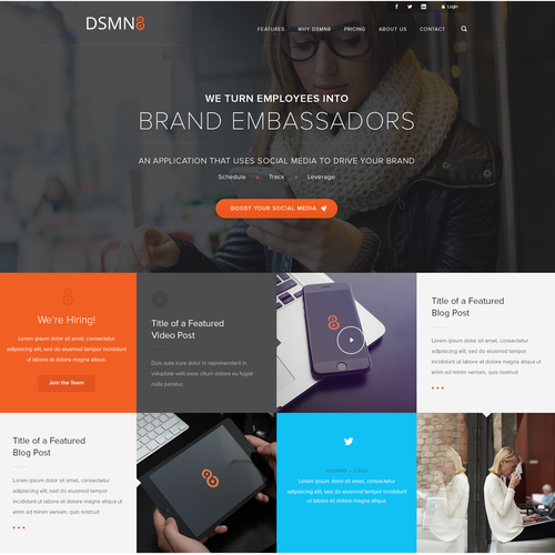 Custom Wordpress Homepage Design