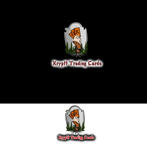 Logo for a trading cards business.