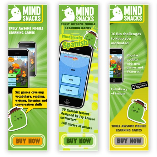 Need some great web banner ads promoting our mobile game