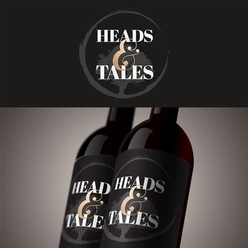Heads & Tales Wine Label Design