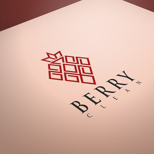 Logo for BerryClean, a San Francisco residential maid service to convey trust, luxury, urban, modern