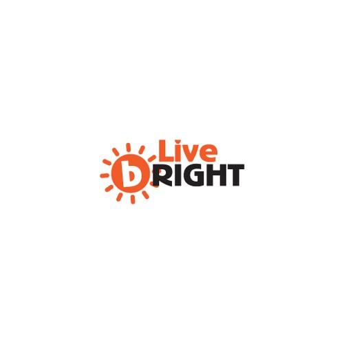 Create a fun merchandise logo for Live bRIGHT