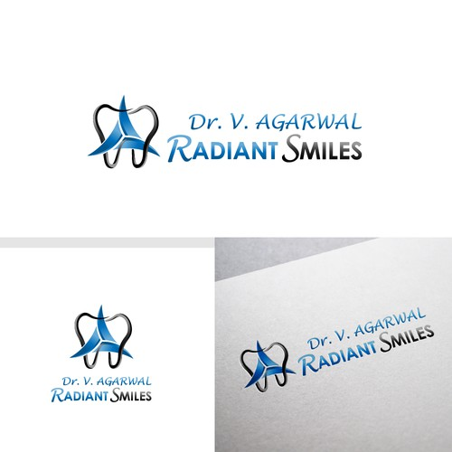 Creative Modern Dental Office Logo for Radiant Smiles.