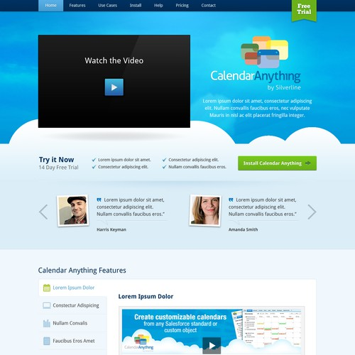 CalendarAnything by Silverline needs a new website design