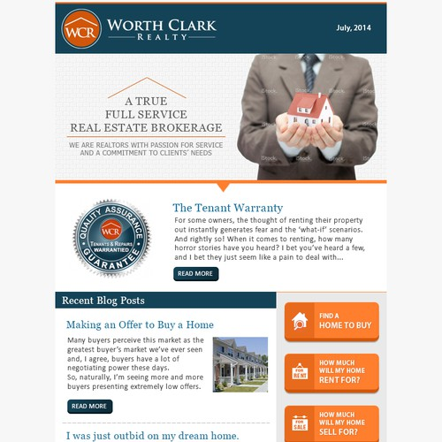 Worth Clark Realty Email Newsletter