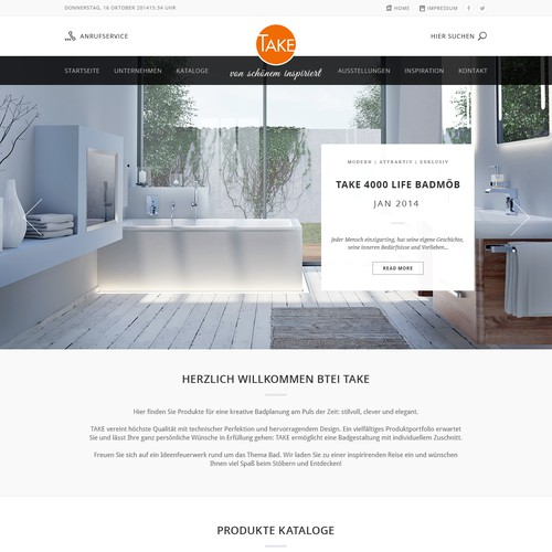 Website design for Take.