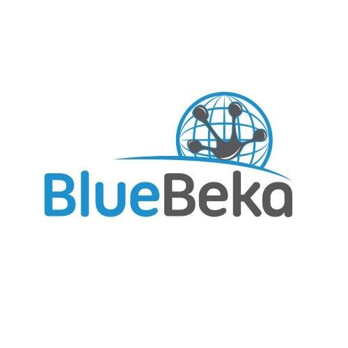 Create an internationally minded logo for BlueBeka.