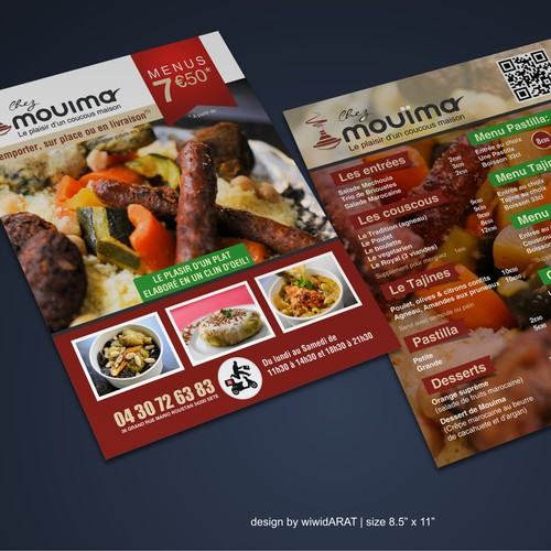 Flyers Chez Mouïma - Fastfood Marocain!!