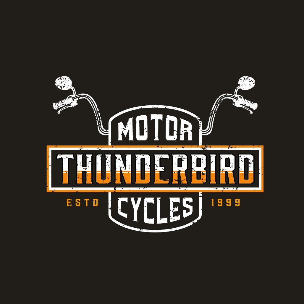 Create a dynamic logo for a motorcycle service and modification shop.