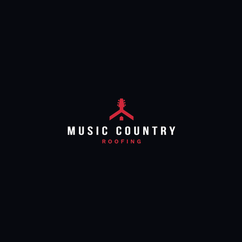 Music Country Roofing Logo