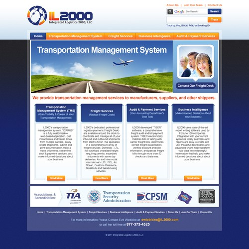 New website design wanted for IL2000 (Integrated Logistics 2000, LLC)