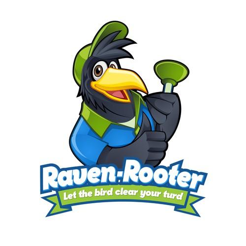 Raven Mascot Character Logo